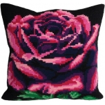 "Cross stitch cushion kit ""Rose cardinal"""