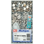 Non-Sew Press Stud Fasteners 15 mm Silver-Coloured Brass