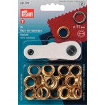 Eyelets silver  11mm