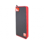 Knitting needle case polka dots black/white