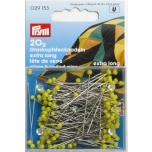 Prym Extra Long Yellow Glass Headed Pins