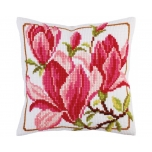 "Cross stitch cushion kit ""Coral"""